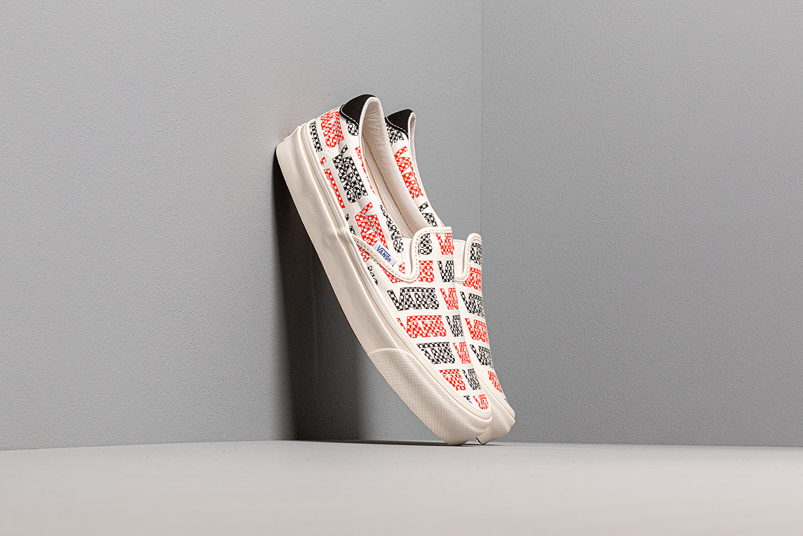 Männer Vans OG Slip-On 59 LX (Canvas) Racing Red/ Logo Checkerboard