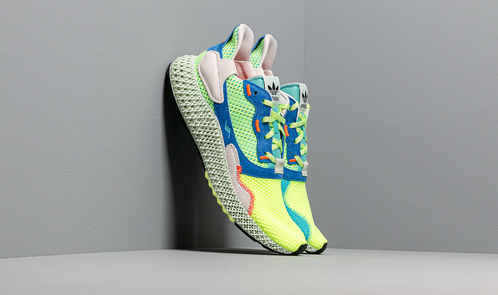 adidas ZX 4000 4D HiRes Yellow Linen Green Easy Mint