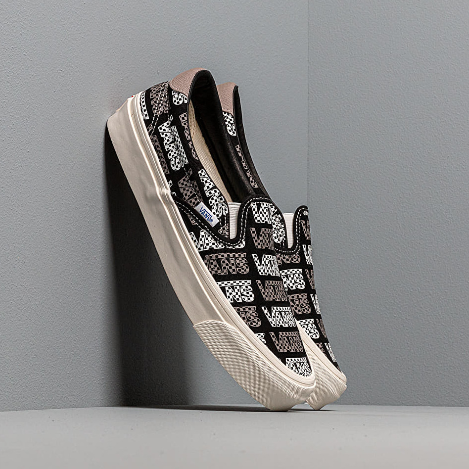 Vans OG Slip-On 59 LX (Canvas) Black/ Logo Checkerboard EUR 39