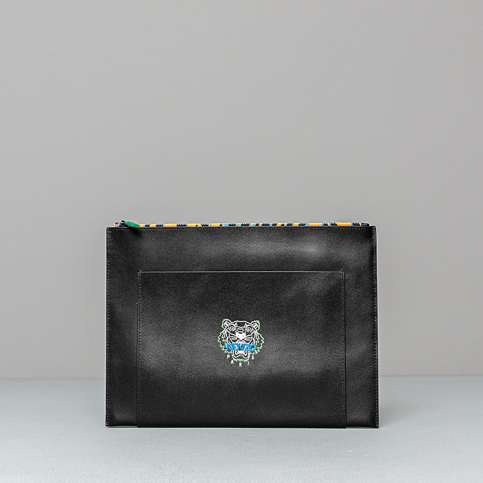 KENZO Tiny Tiger Large Pouch Bag Black