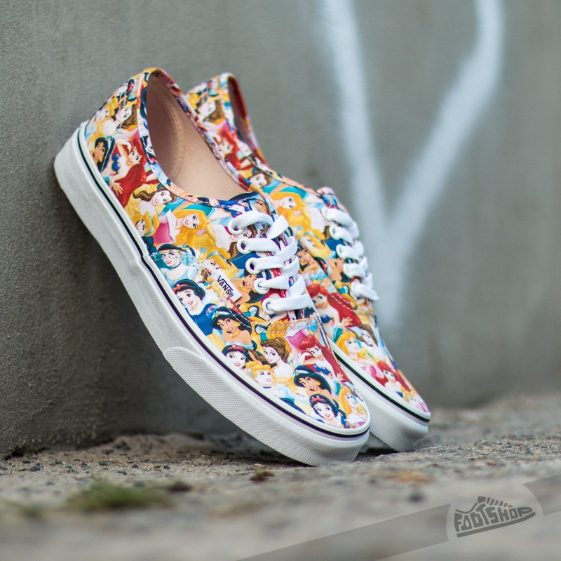 Vans Authentic DISNEY Multi Princess White  df1c46a11a3