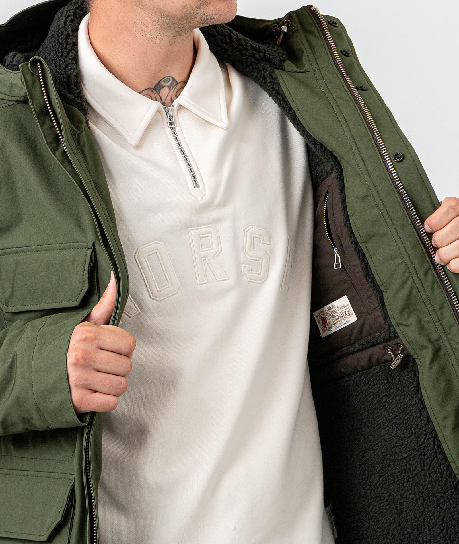 Norse Projects Nunk Cambric Cotton Jacket Ivy Green