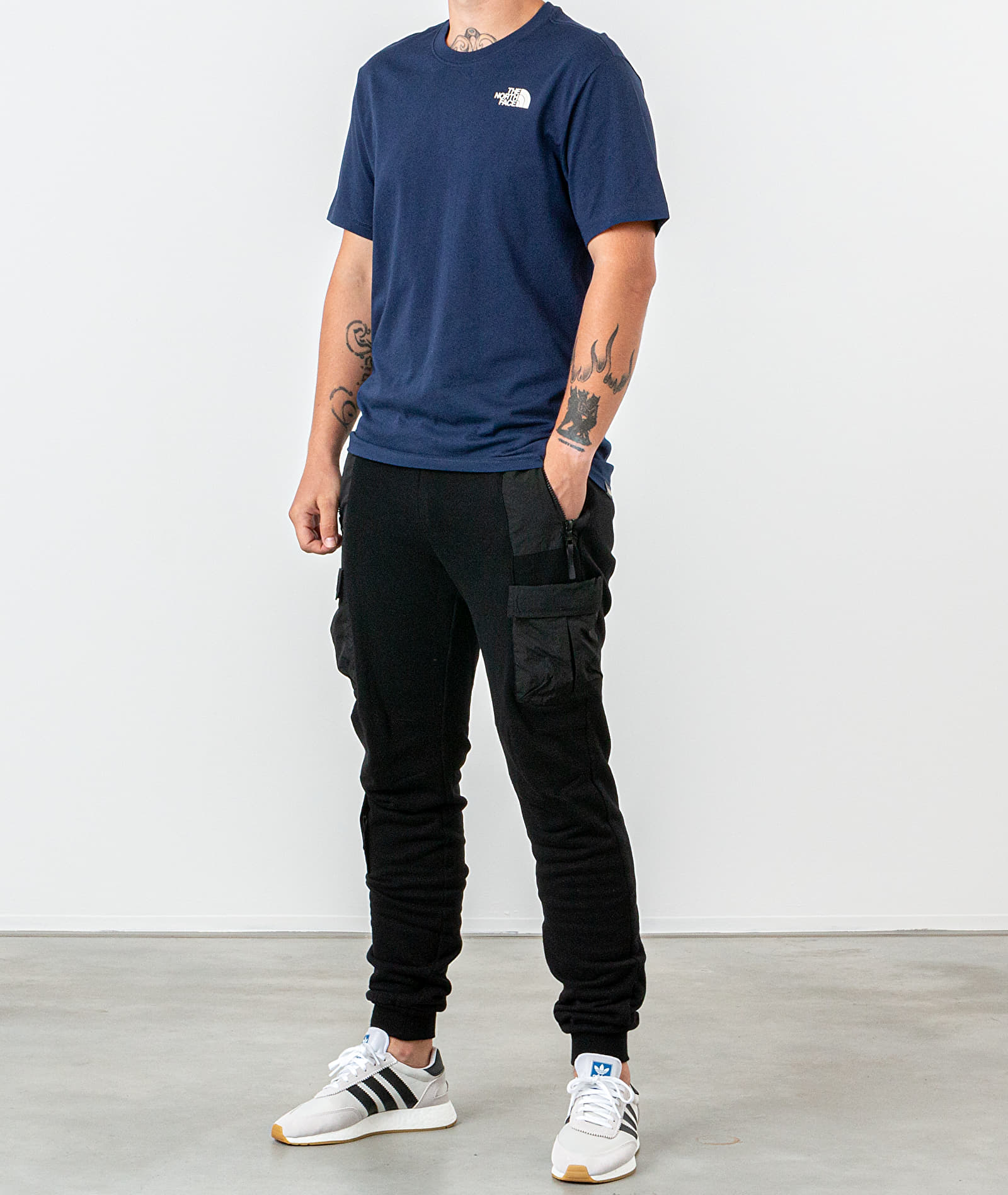 The North Face Red Box Tee Montague Blue