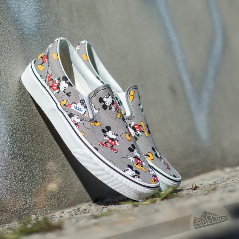 27033c4f23 Vans Classic Slip-On DISNEY Mickey Mouse  Frost Gray