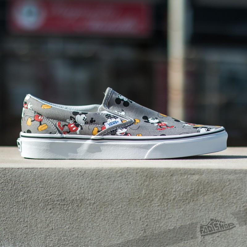 Vans Classic Slip On DISNEY Mickey Mouse Frost Gray | Footshop