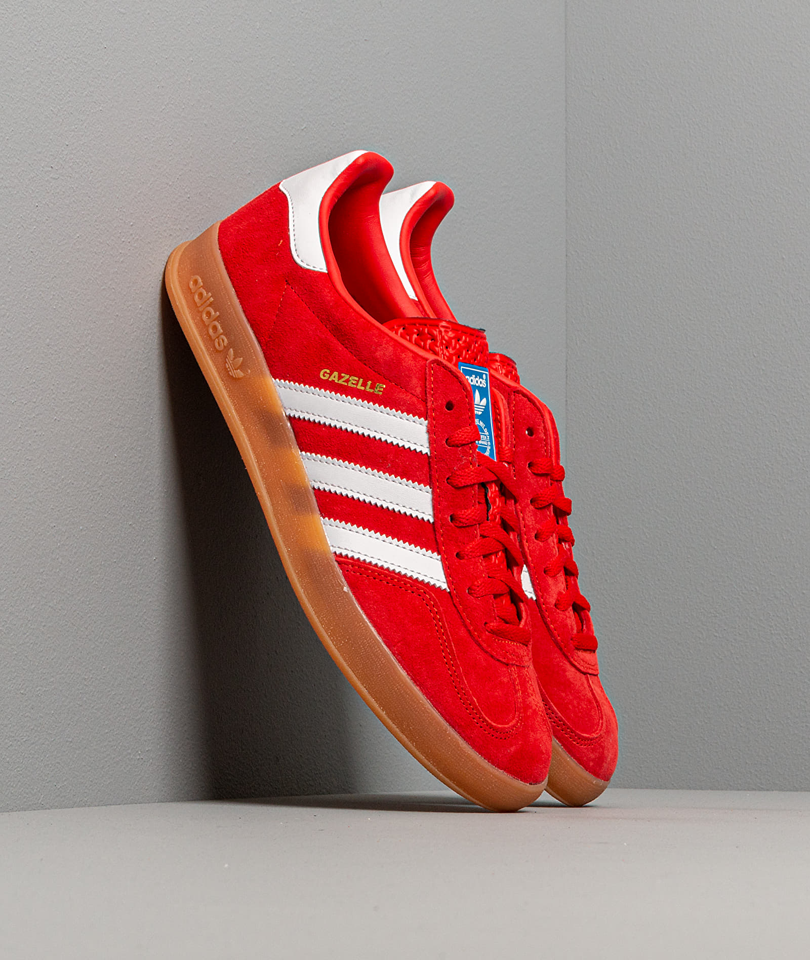 adidas Gazelle Indoor Active Red/ Ftw White/ Gum3 EUR 44 2/3