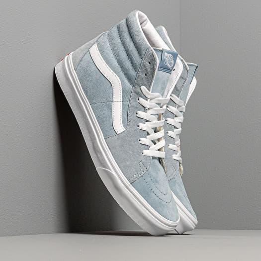 Vans SK8 Hi (Pig Suede)Blue Fog True White