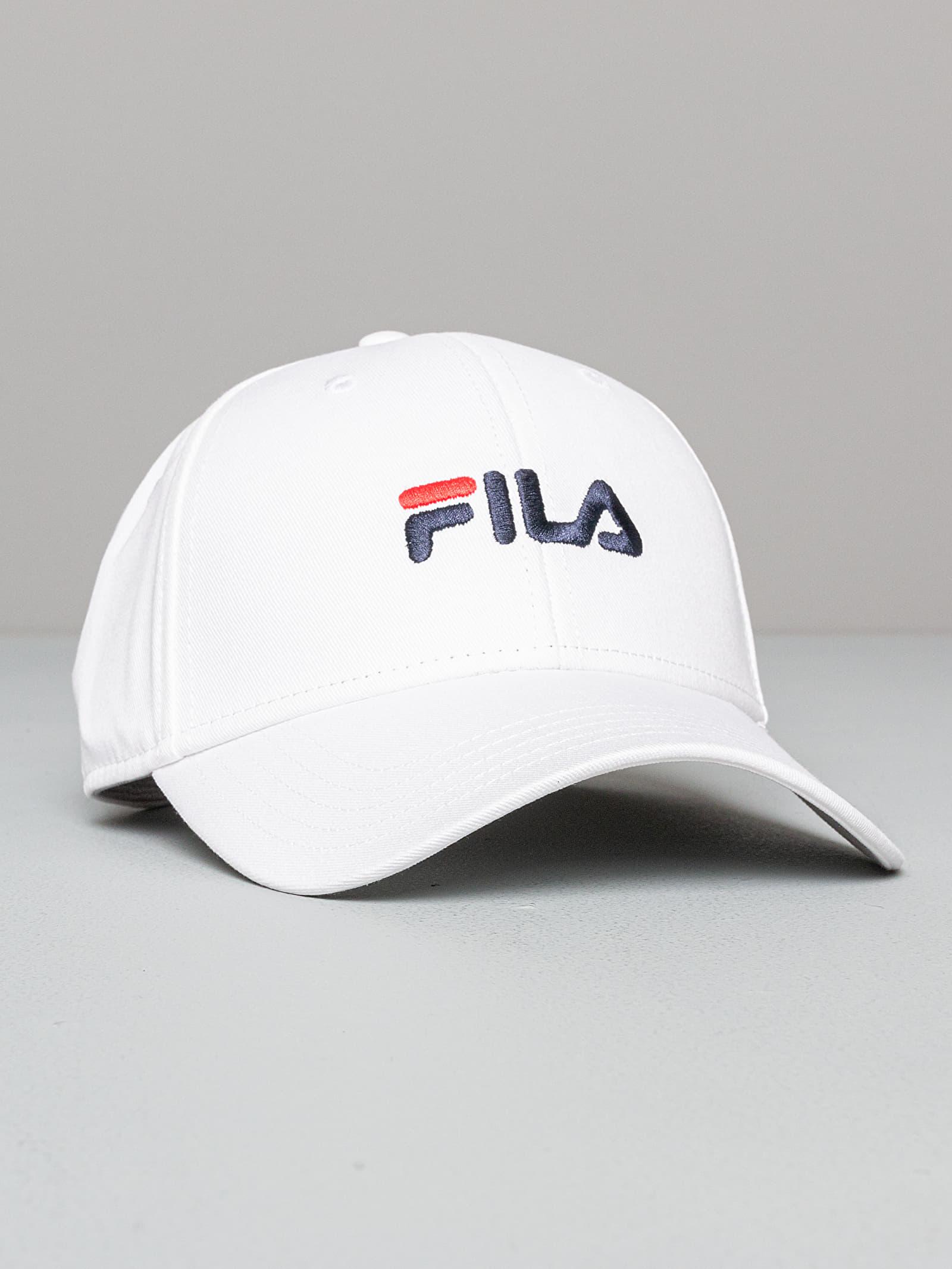 FILA Linear Logo Panel Strapback Cap