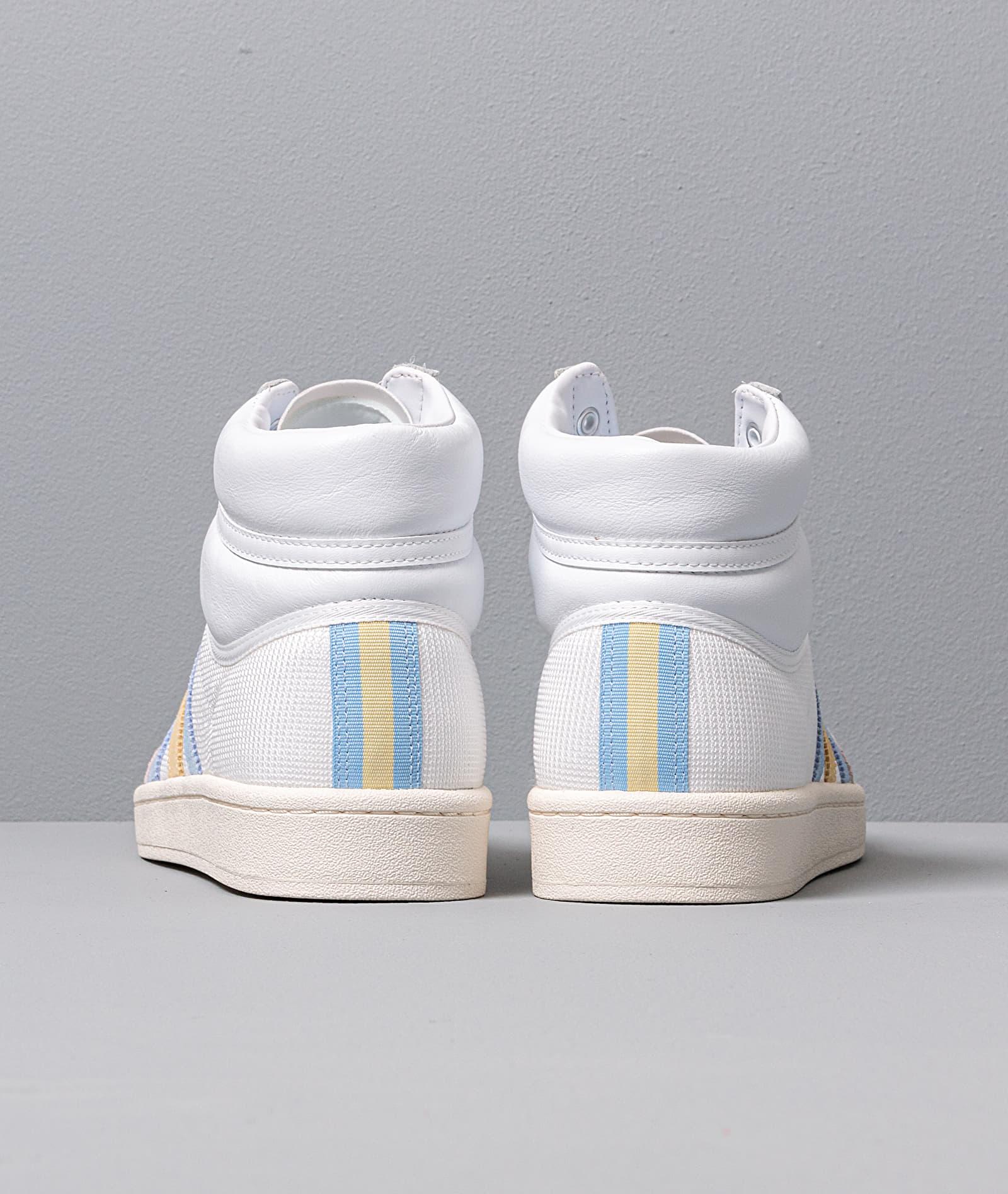 adidas Americana Hi Ftw White/ Glow Blue/ Easy Yellow