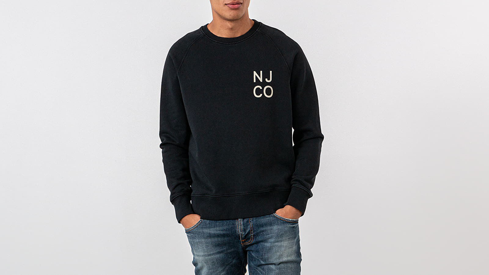 Hoodies and sweatshirts Nudie Jeans Melvin NJCO Crewneck Black