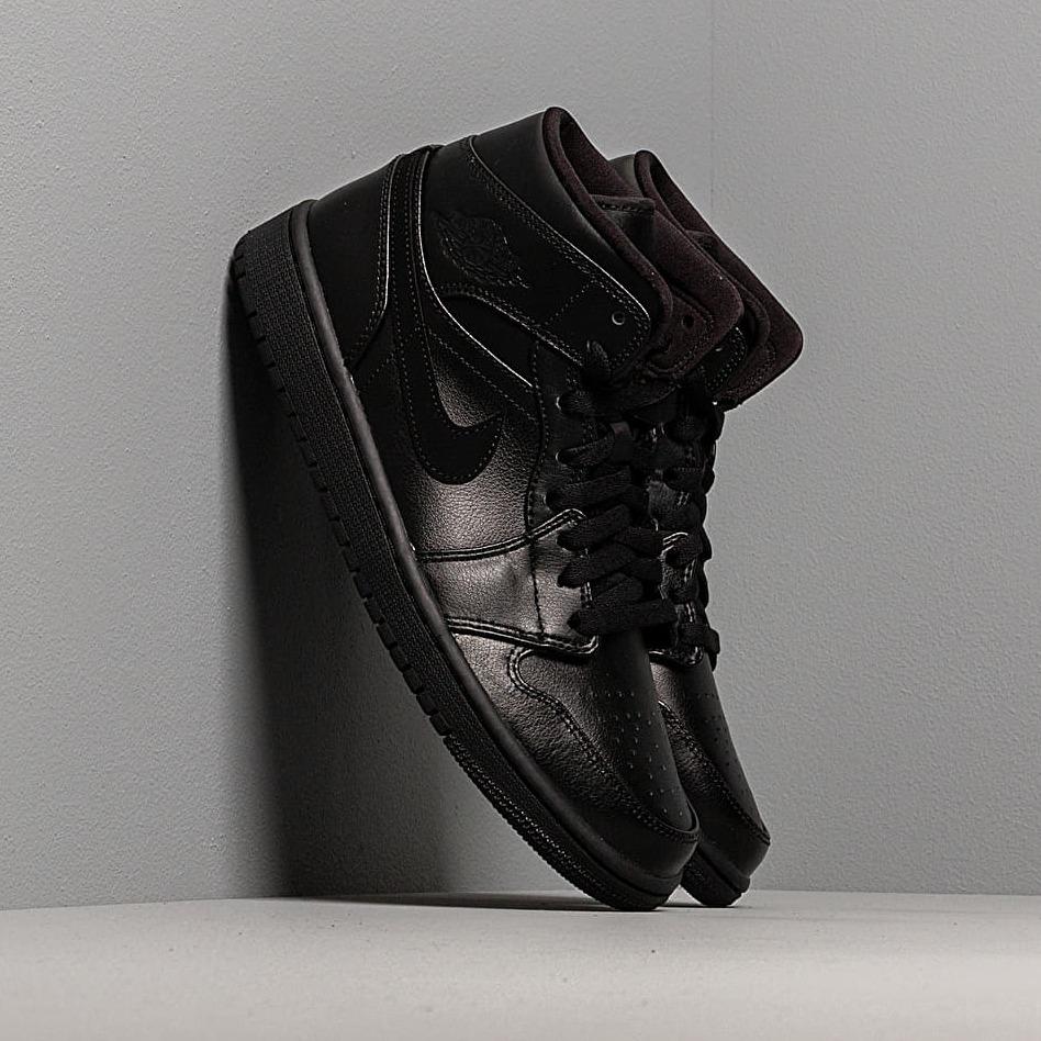 Air Jordan 1 Mid Black/ Black-Black EUR 41