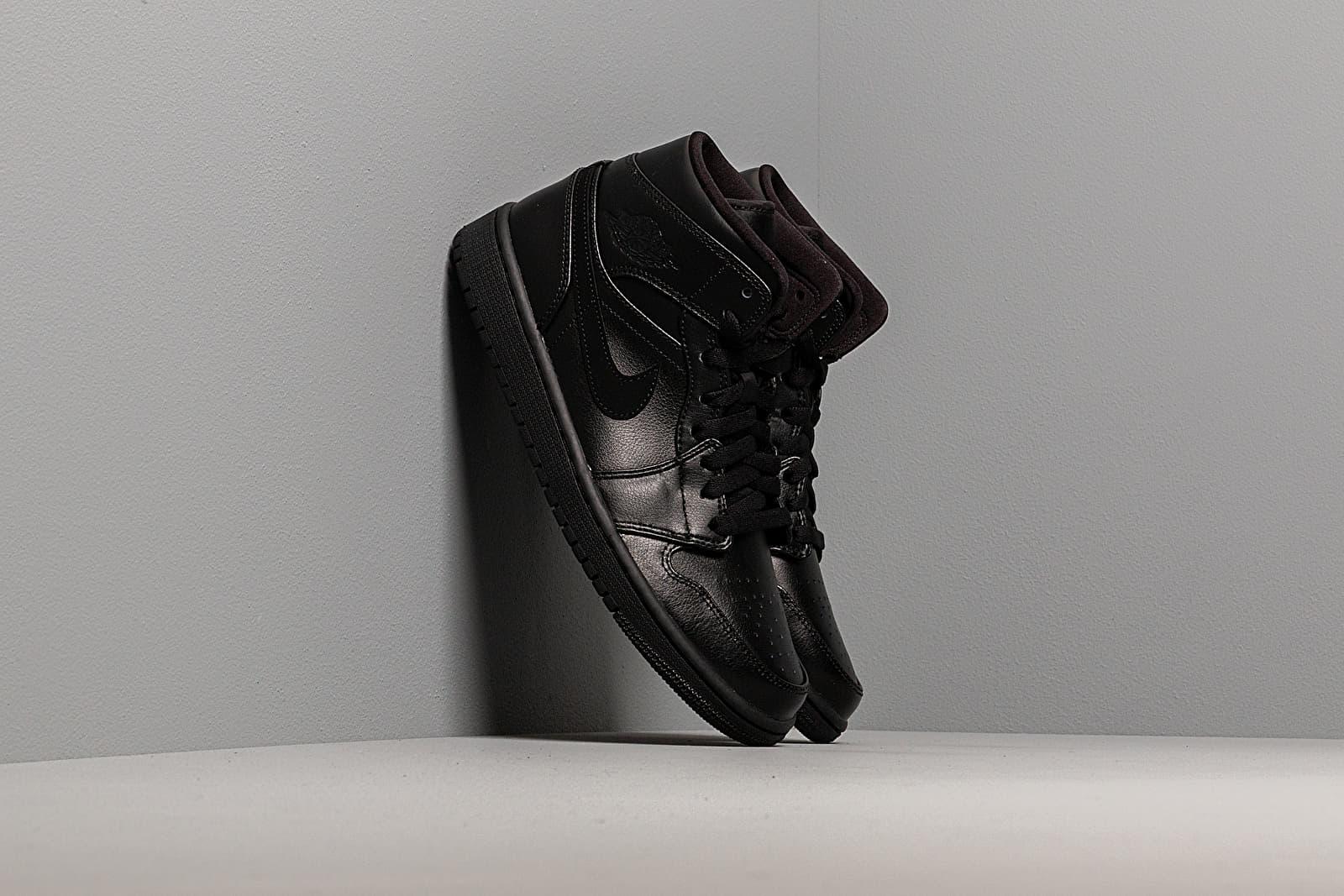 Pánské tenisky a boty Air Jordan 1 Mid Black/ Black-Black