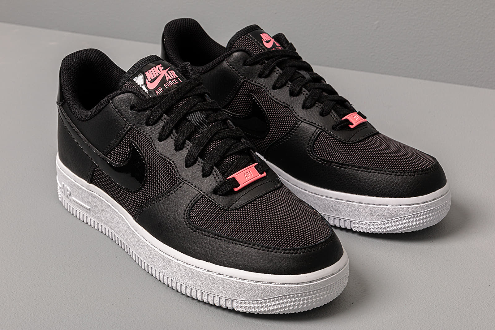 Nike Wmns Air Force 1 Lo Black Black Sunset Pulse White | Footshop