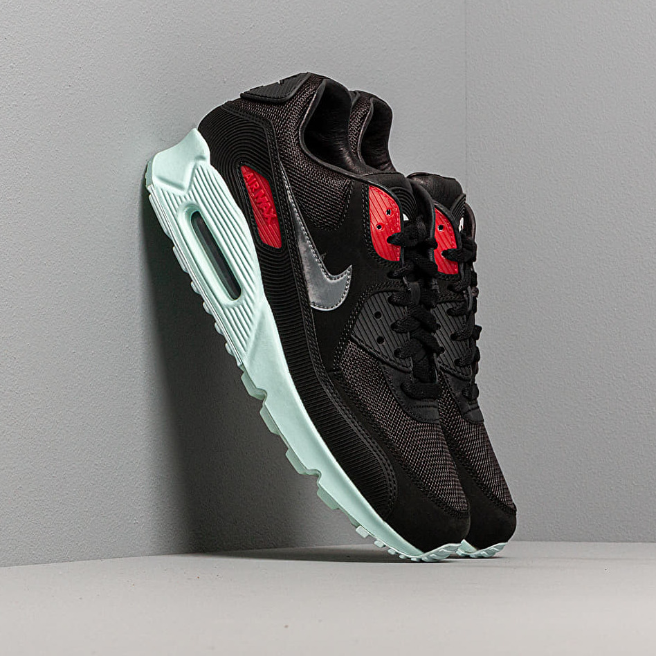 Nike Air Max 90 Premium Black/ Cool Grey-Teal Tint-University Red EUR 43