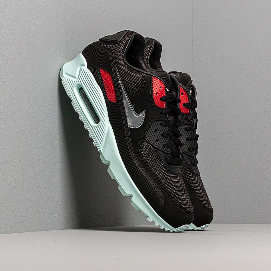 Nike Air Max 90 Premium Black/ Cool Grey-Teal Tint-University Red EUR 41