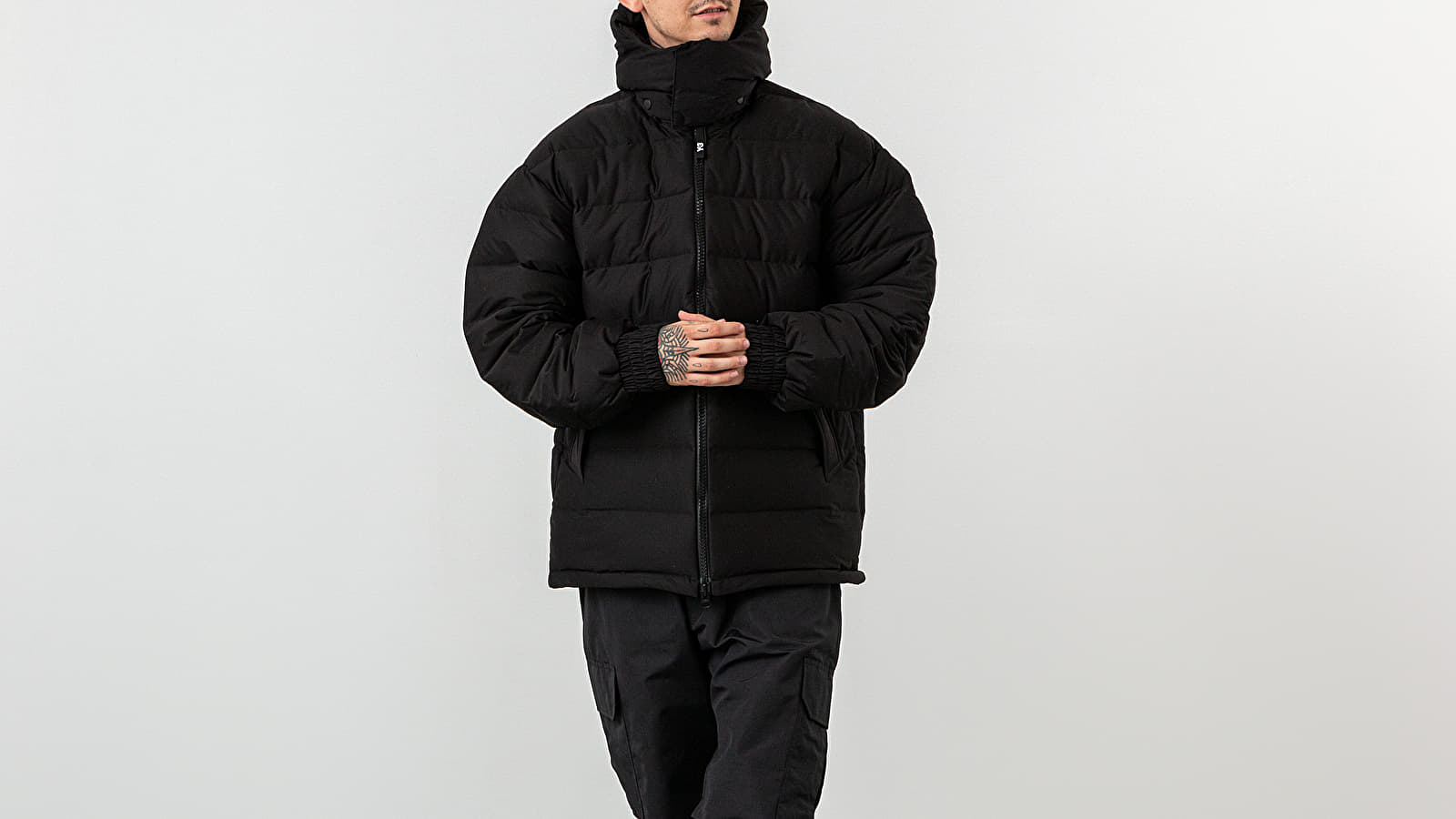 Y 3 Seamless Down Hooded Jacket Black | Footshop