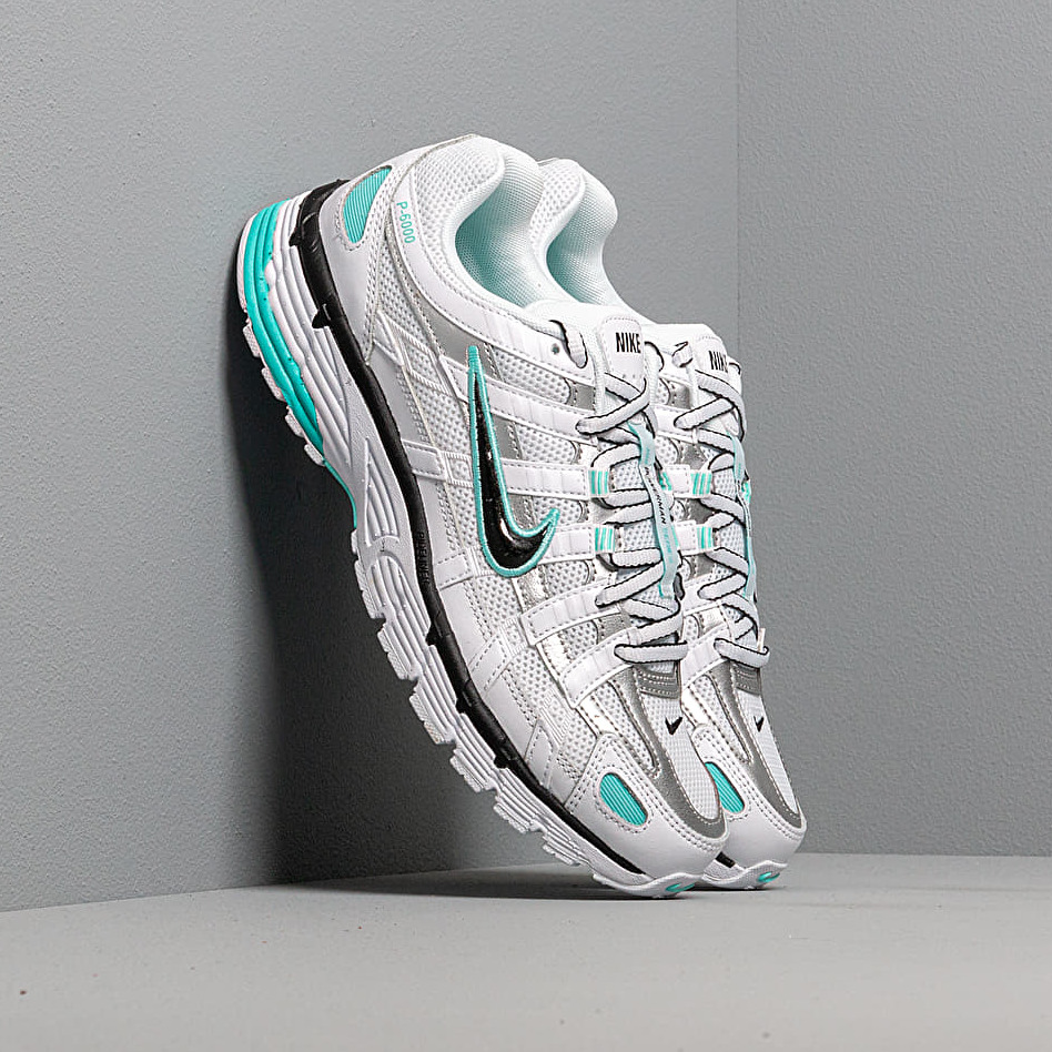 Nike W P-6000 White/ Black-Metallic Silver-Light Aqua EUR 38.5