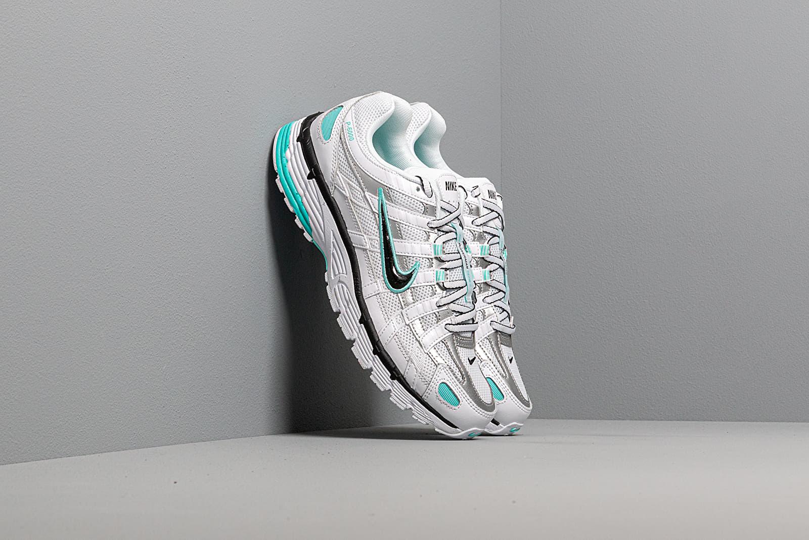 Női cipők Nike W P-6000 White/ Black-Metallic Silver-Light Aqua