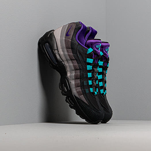 black and purple air max 95