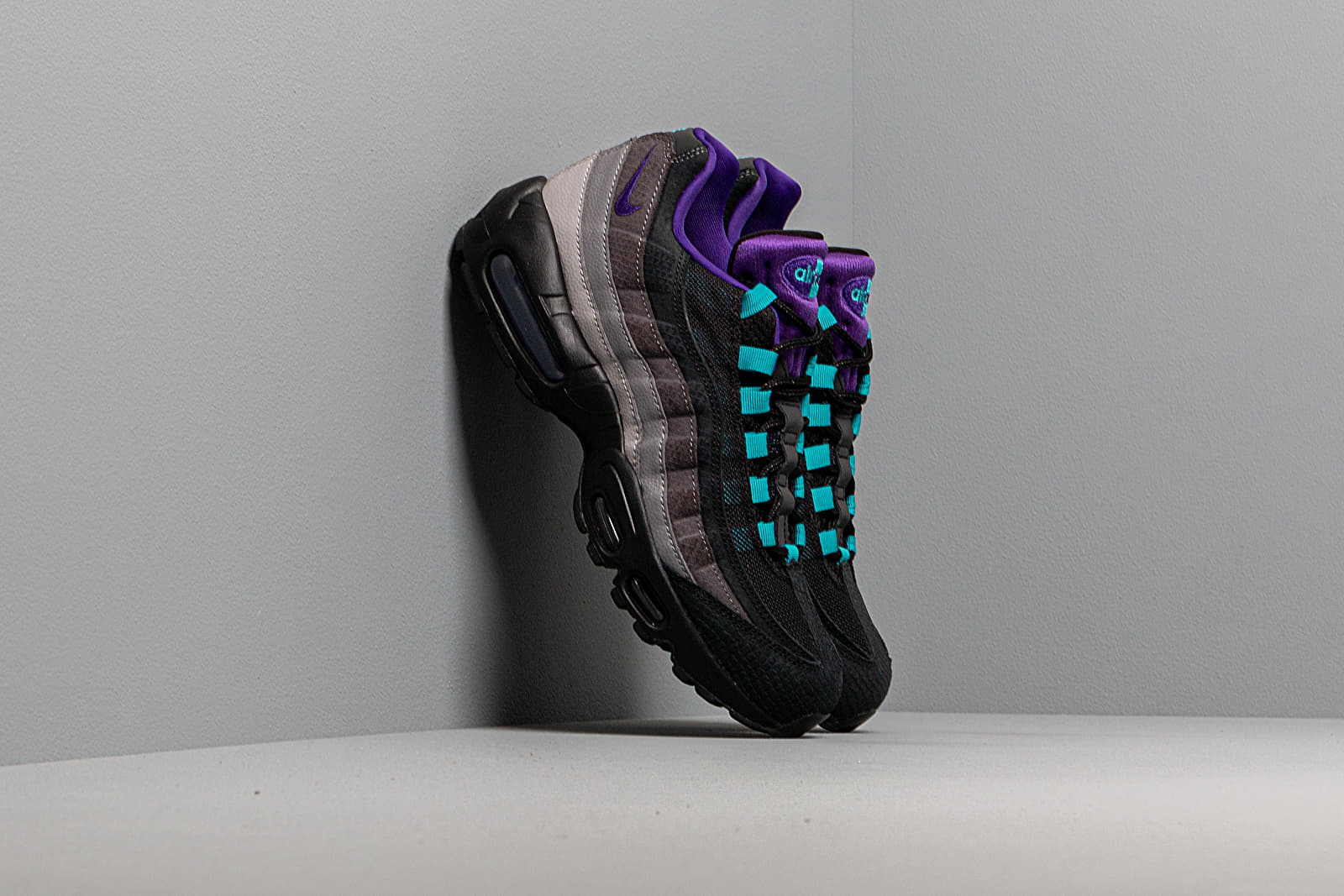 Nike Air Max 95 Lv8 Black Court Purple Teal Nebula | Footshop
