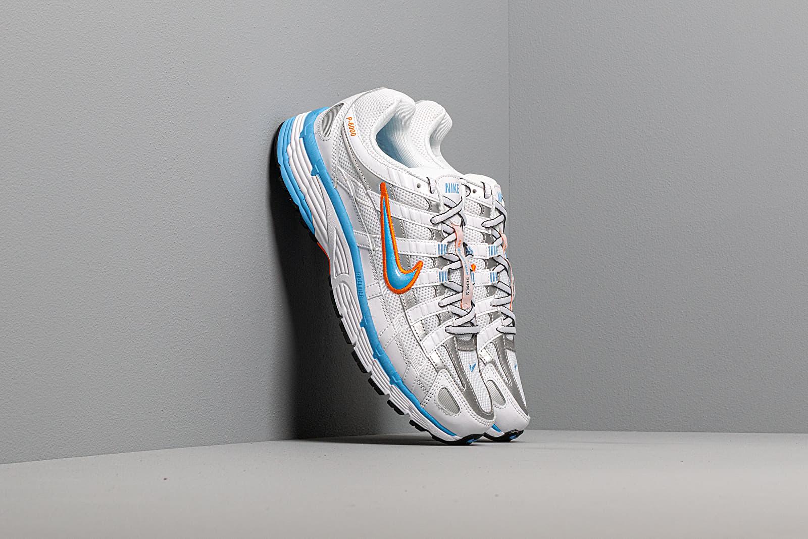 Women's shoes Nike W P-6000 White/ University Blue-Metallic Silver