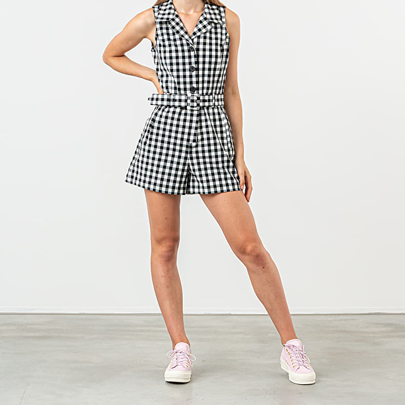 Lazy Oaf Gingham Role Playsuit Grey