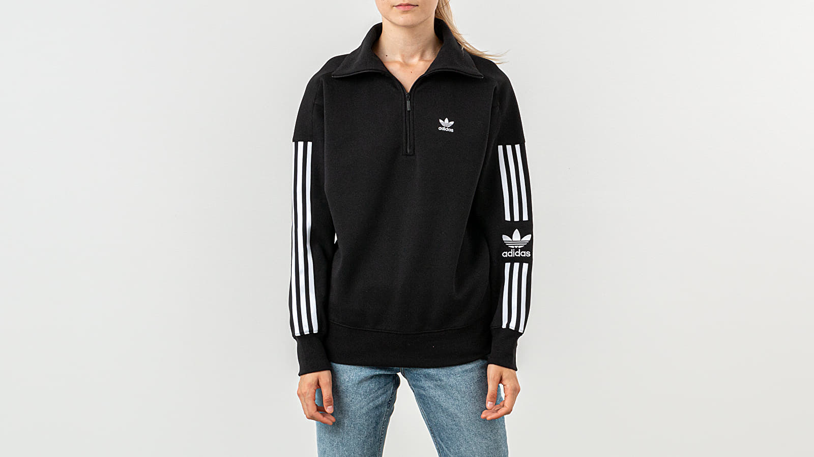 Kapucnis pulcsik adidas Lock Up Sweatshirt Black