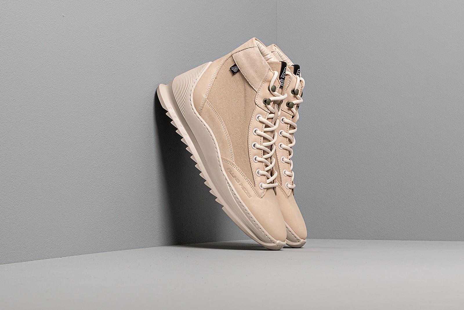 Chaussures et baskets homme Filling Pieces Mid Apline Heel Cap Aten Off White