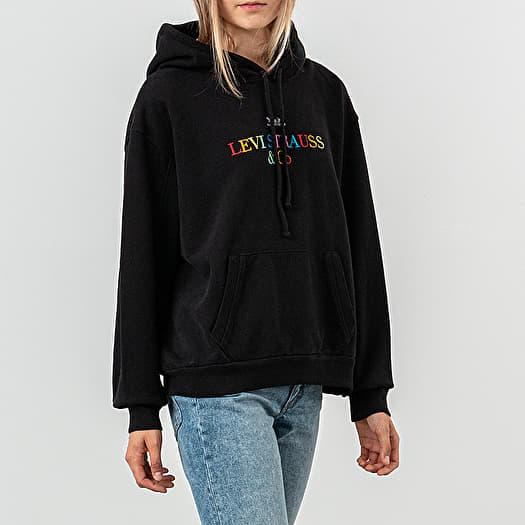 levi's unbasic hoodie bluza z kapturem black
