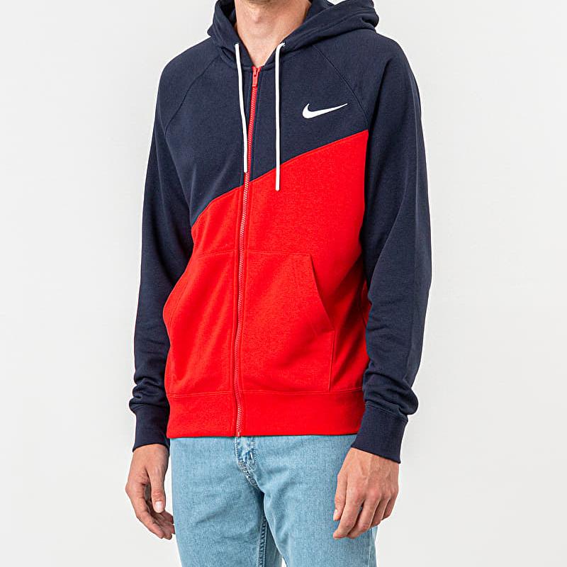 Nike Sportswear Swoosh Hoodie University Red/ Obsidian/ White