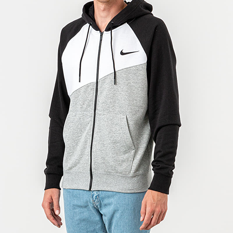 Nike Sportswear Swoosh Hoodie Dk Grey Heather/ White/ Black/ Black, Gray