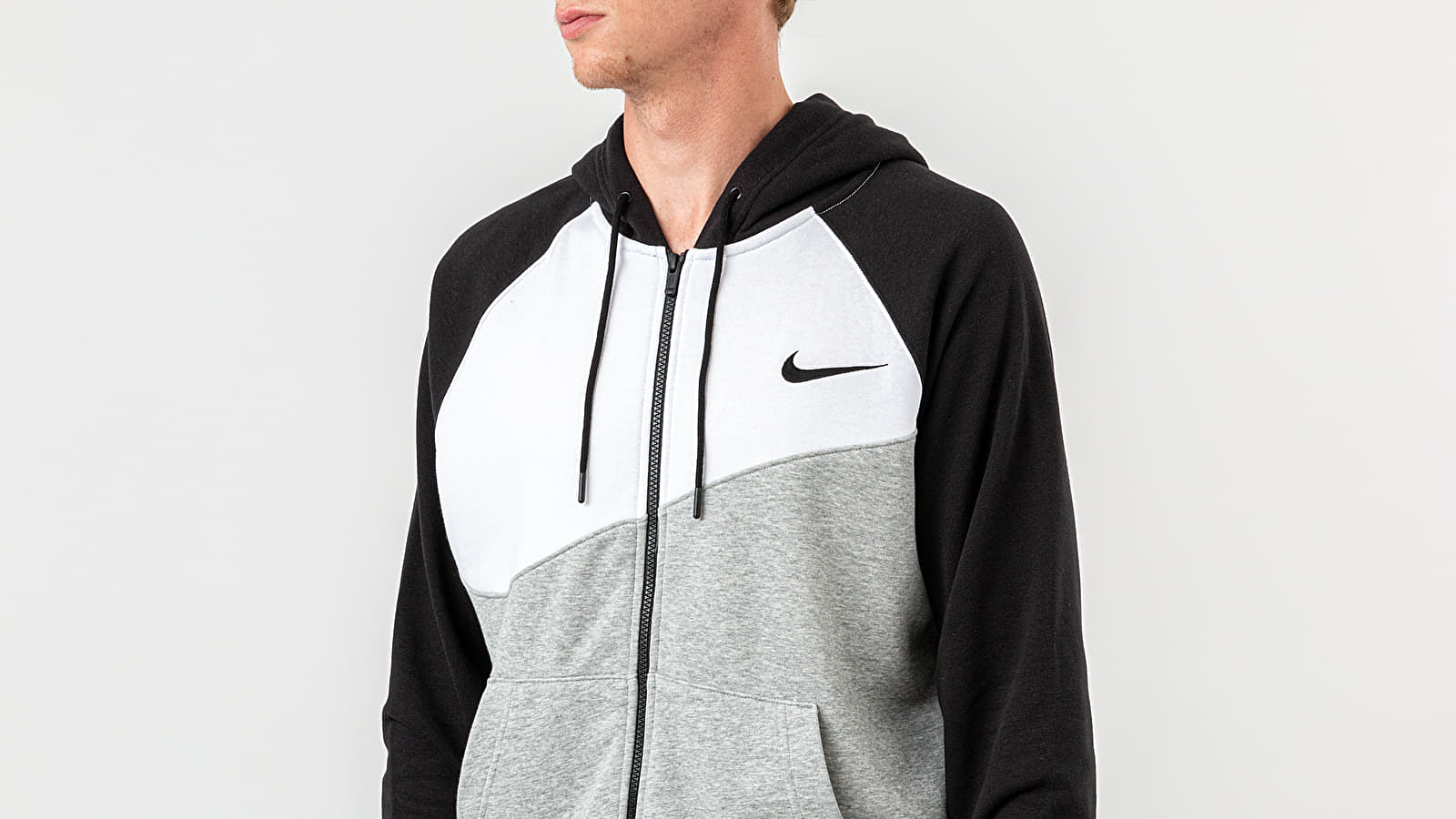 Nike Tech Fleece Full Zip Hoodie in WhiteBlackBlack (White