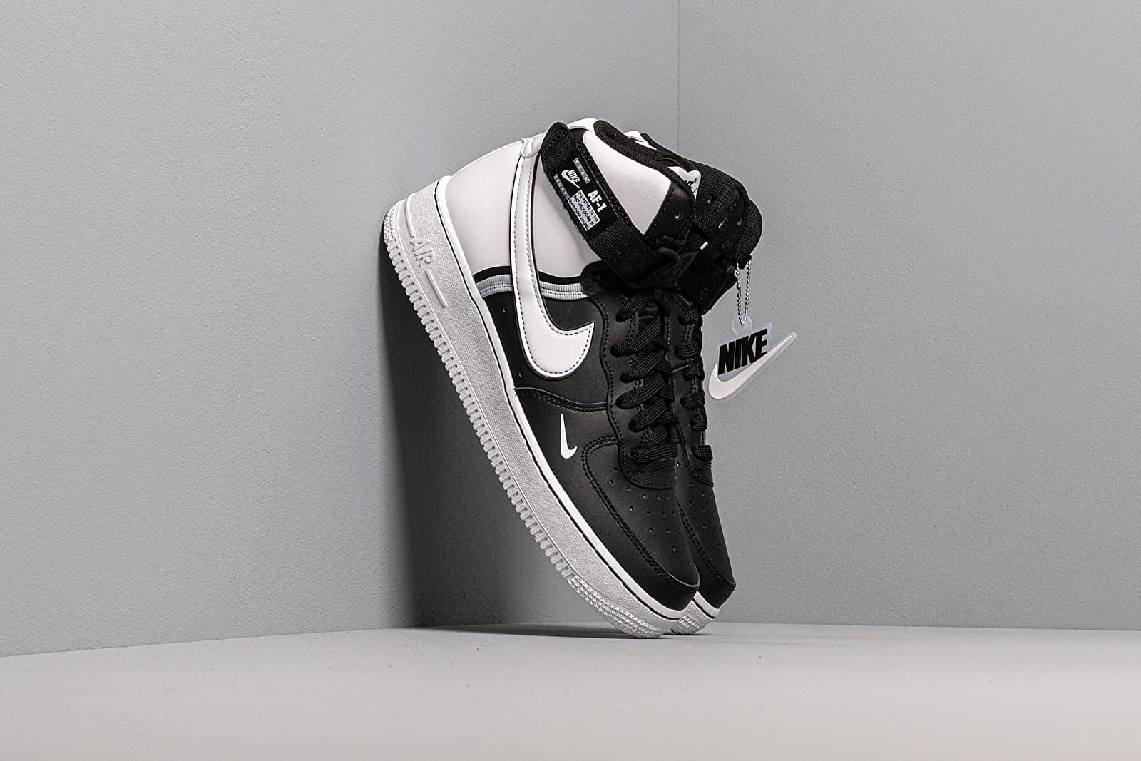 Nike Air Force 1 High Lv8 2 (GS) Black White Wolf Grey White | Footshop