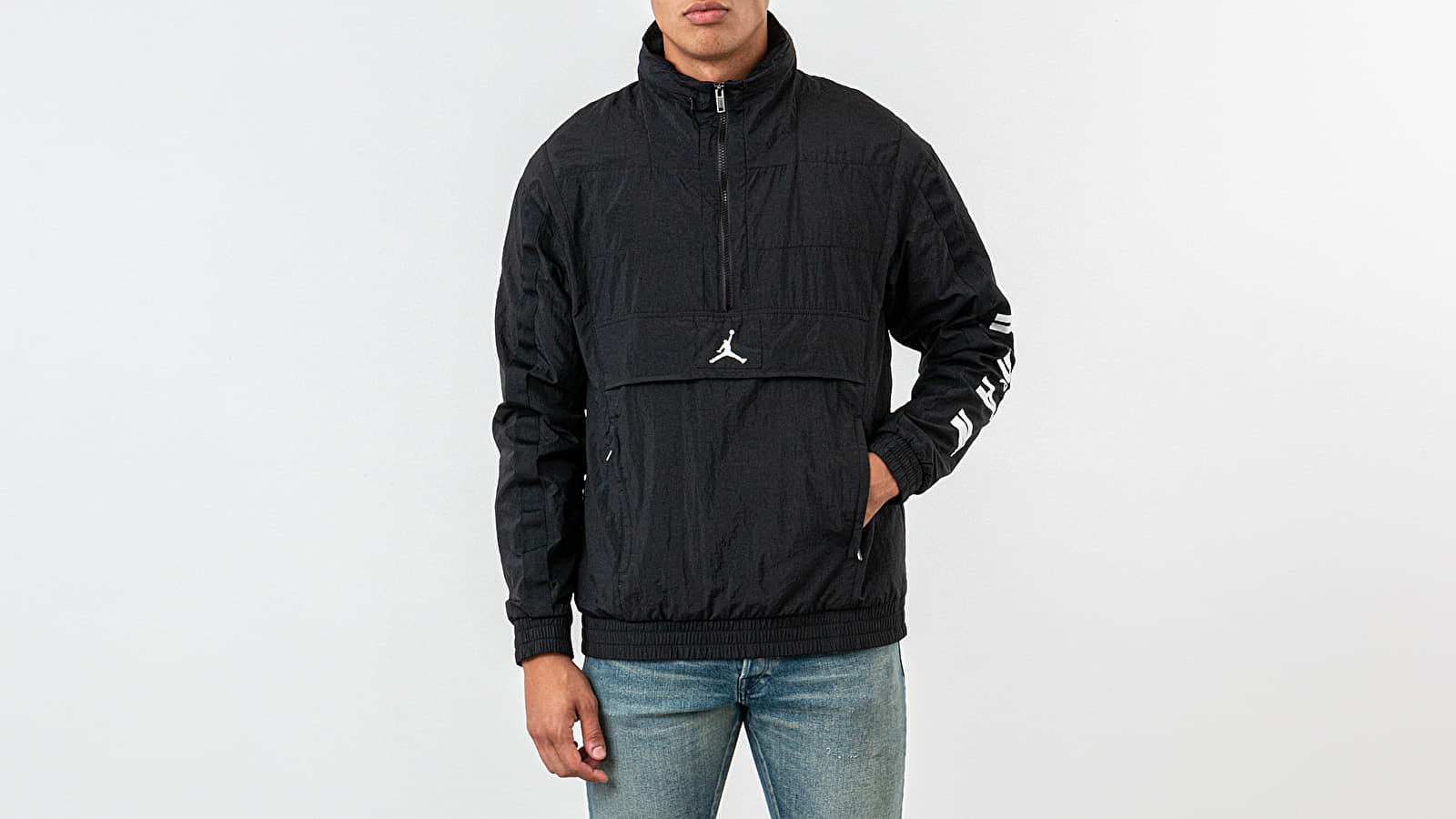 Větrovky Jordan Wings Windwear Jacket Black/ White