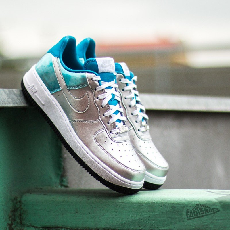 Nike Wmns Air Force 1 07 PRM QS Metallic SilverLight Blue   Footshop