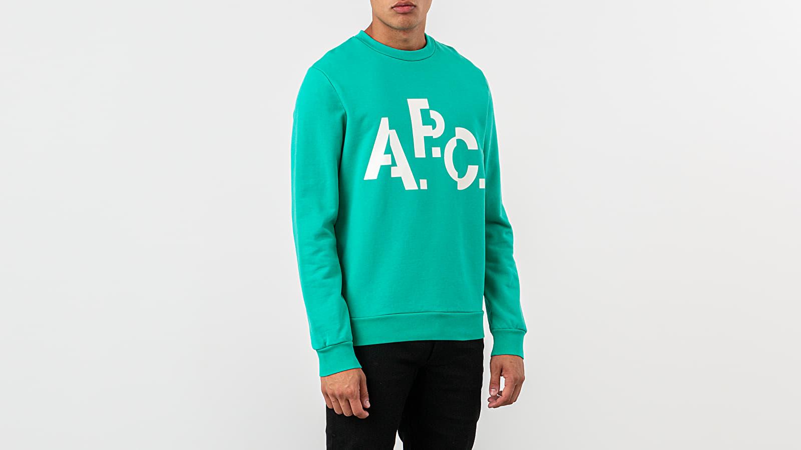 Jope in puloverji A.P.C. Decale Crewneck Green