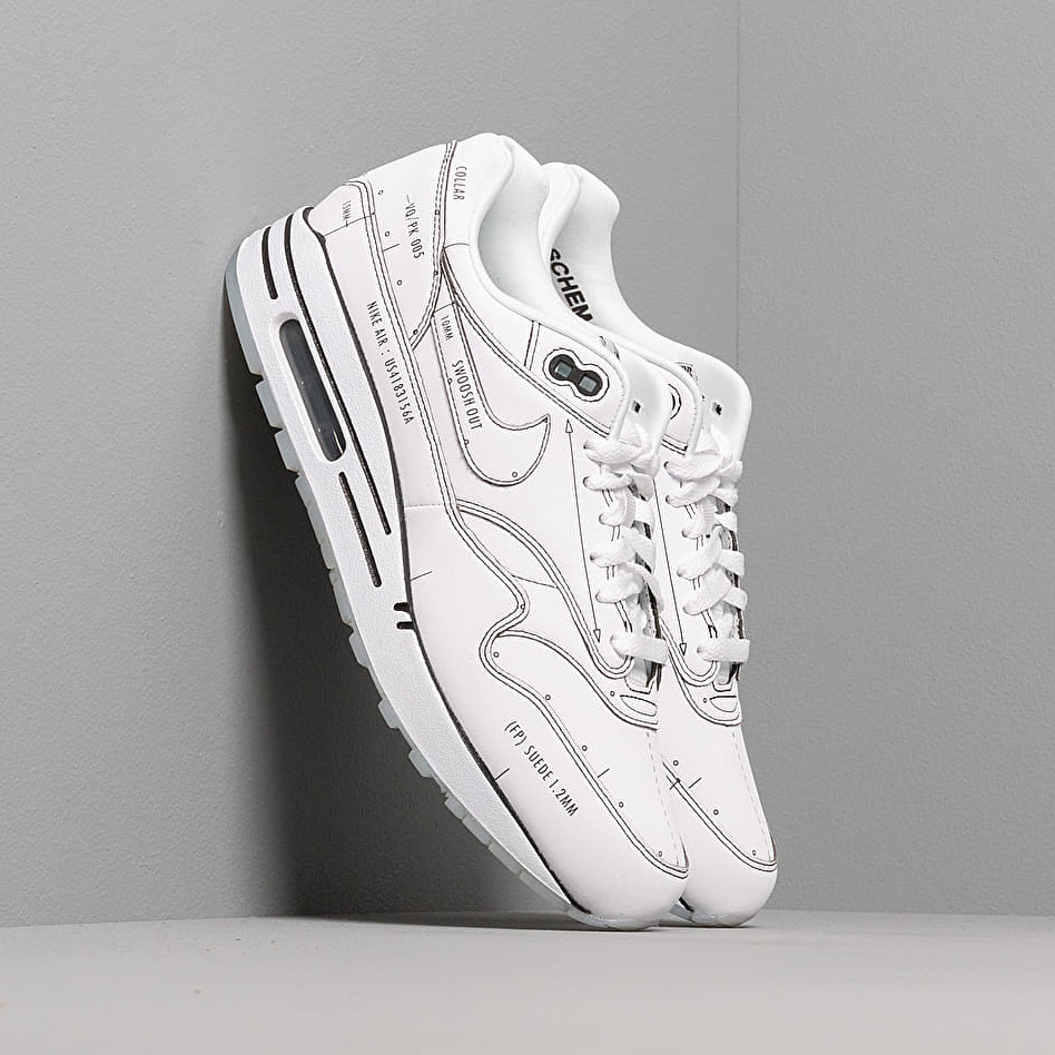 Nike Air Max 1 Sketch To Shelf White/ White-Black EUR 42
