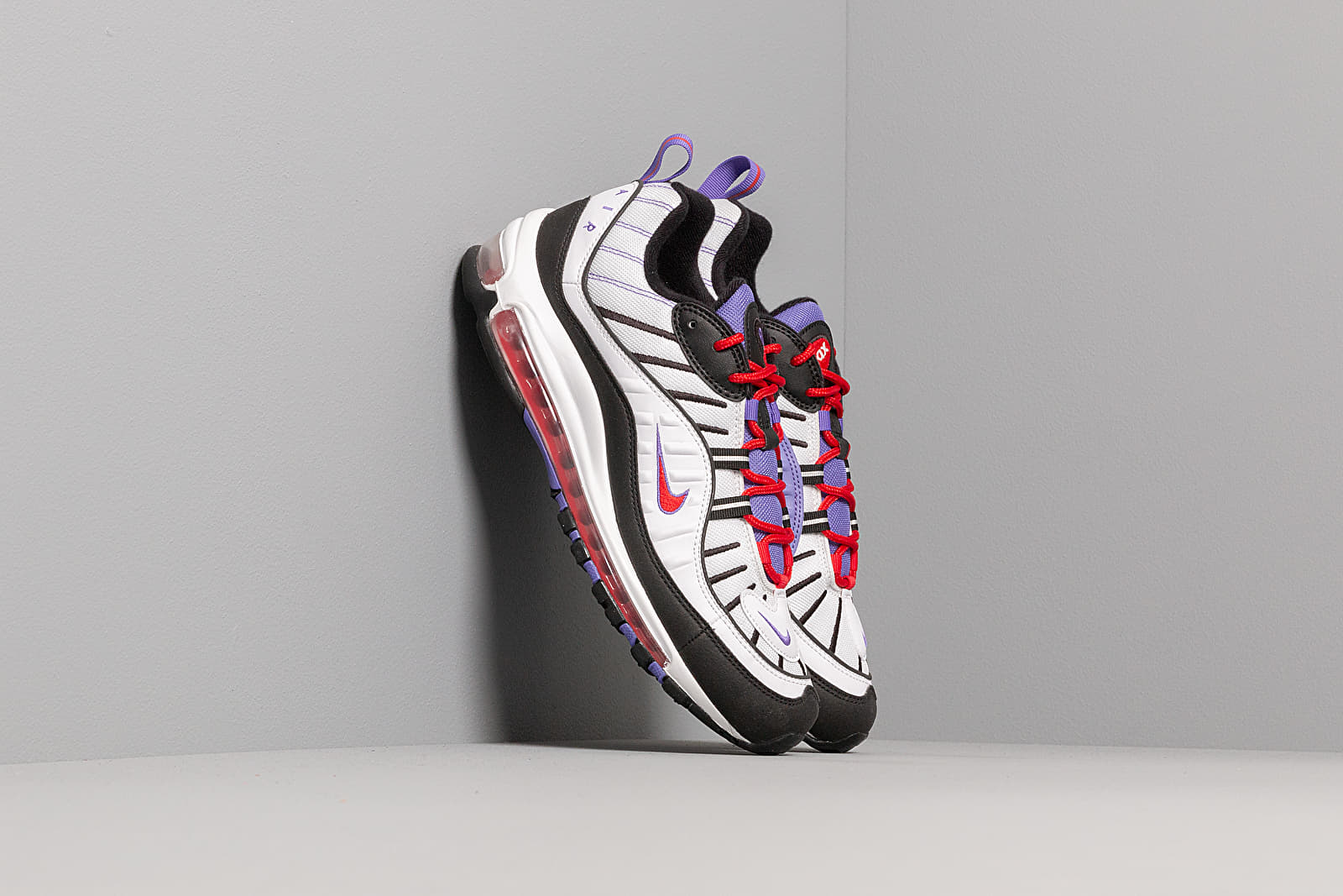 Nike Air Max 98 White Black Psychic Purple | Footshop