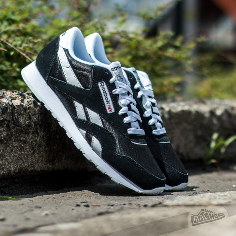 low priced 4c309 a31cd Reebok Classic Leather Nylon Black/White | Footshop