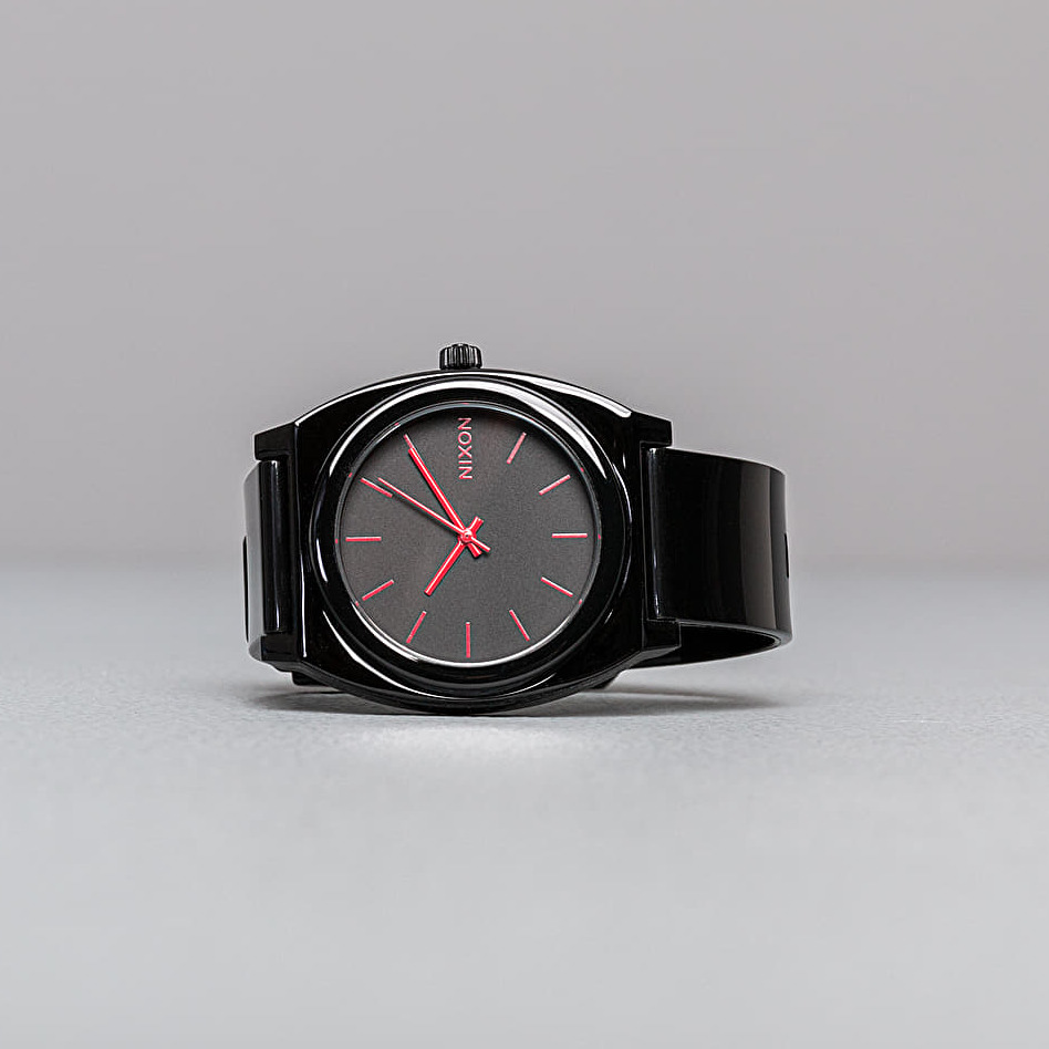 Nixon Time Teller P Watches Black Bright Pink