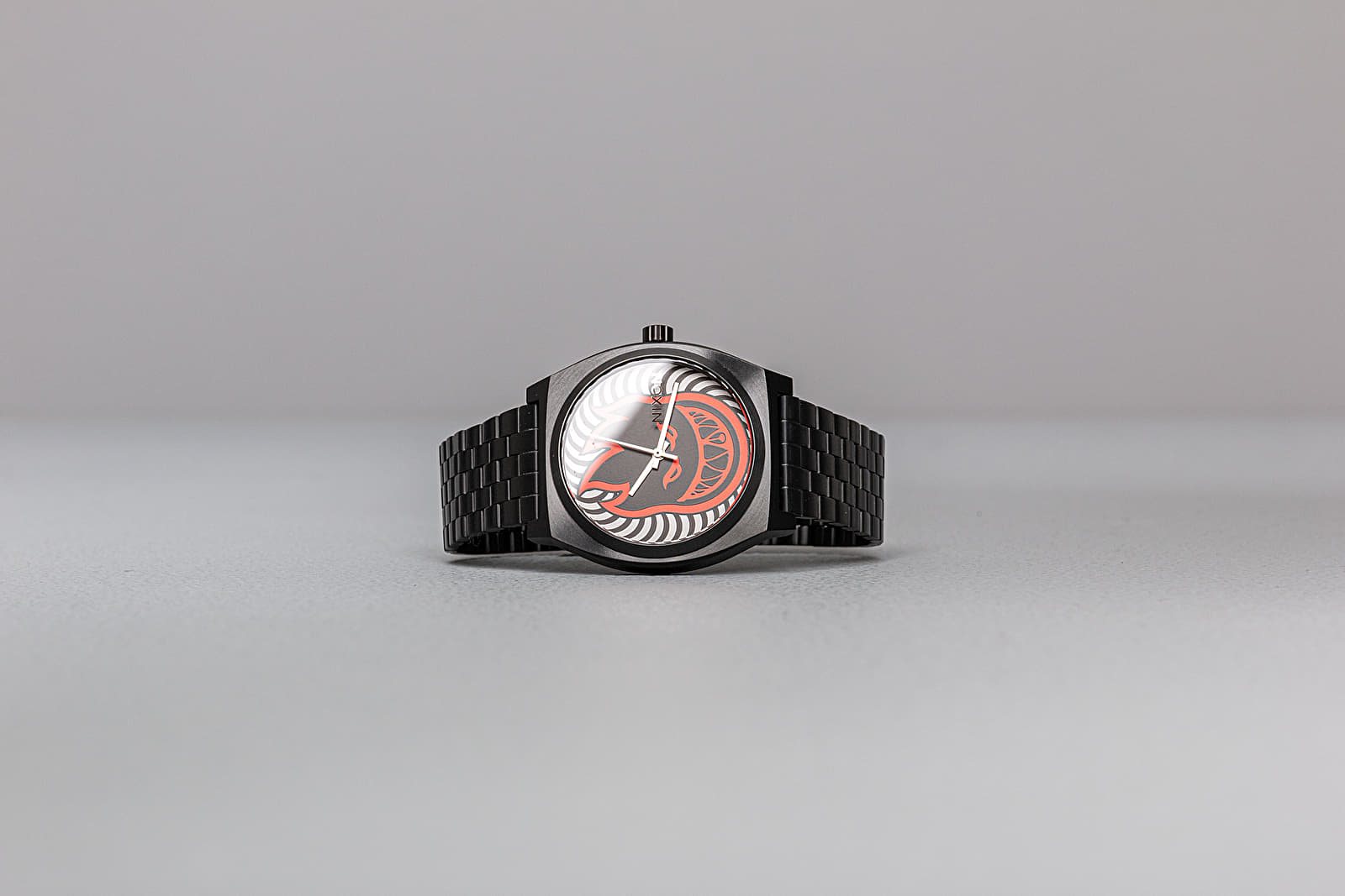 Hodinky Nixon Nixon x Spitfire Time Teller Watches Black/ Fireball