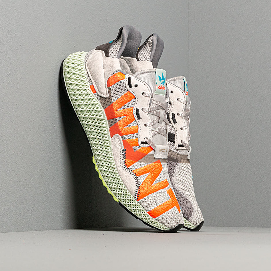 adidas ZX 4000 4D Grey One Solar Red Bright Cyan