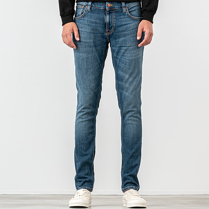 Nudie Jeans Tight Terry Jeans Steel Navy, Blue