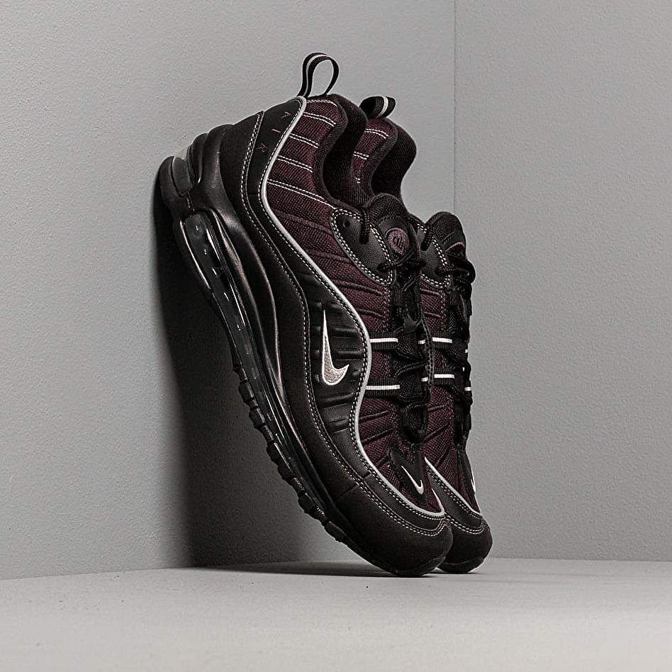 Nike Air Max 98 Black/ Metallic Silver-Oil Grey-Vast Grey EUR 41