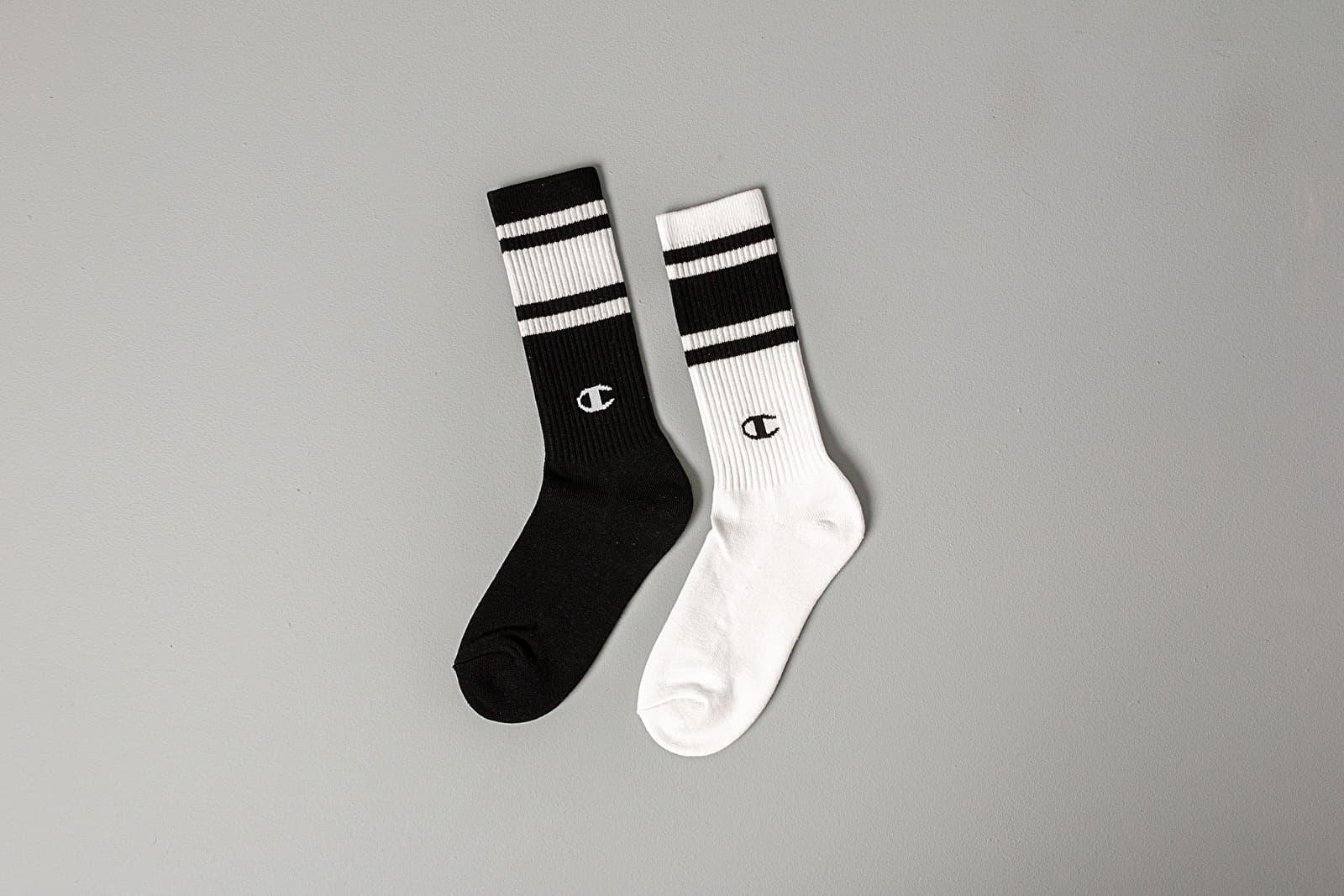 Calzetti Champion Crew 2Pack Socks Black/ White
