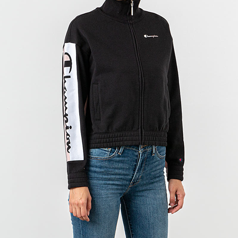 Champion Track Jacket Black/ Pink