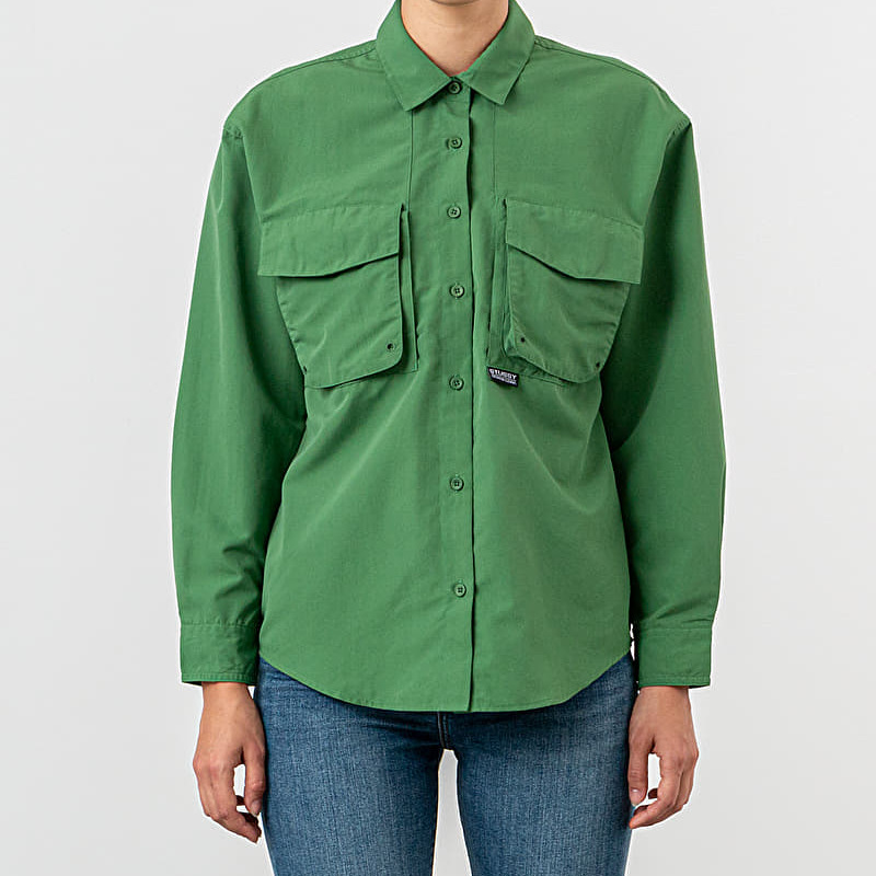 Stussy Range Outdoor Lolgsleeve Shirt Green