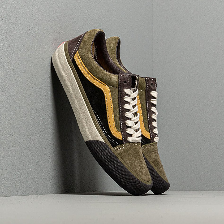 Vans Old Skool VLT LX (Suede/Leather) Shale/ Stone Gray