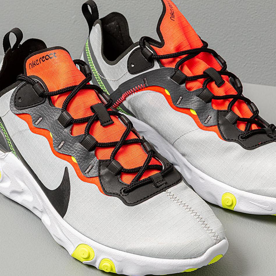 Nike React Element 55 Se Pure Platinum/ Black-Dark Grey, Gray