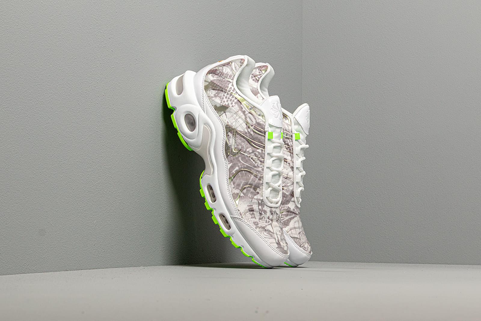 Women S Shoes Nike W Air Max Plus Lx White White Black Electric Green